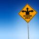 Decisions ahead road sign illustration